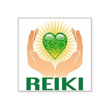 "REIKI Square Sticker 3"" x 3"""
