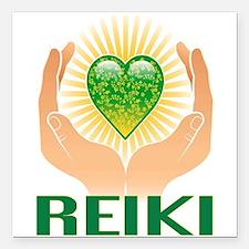 "REIKI Square Car Magnet 3"" x 3"""