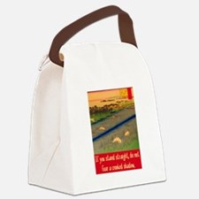CROOKED SHADOW Canvas Lunch Bag