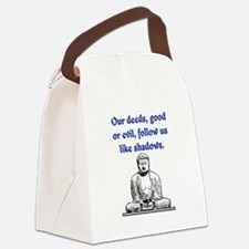 OUR DEEDS.. Canvas Lunch Bag