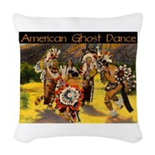 AMERICAN GHOST DANCE Woven Throw Pillow