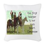OUR FIRST TEACHER Woven Throw Pillow