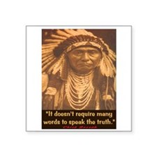 "SPEAK THE TRUTH Square Sticker 3"" x 3"""