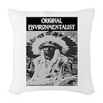 ORIGINAL ENVIRONMENTALIST Woven Throw Pillow