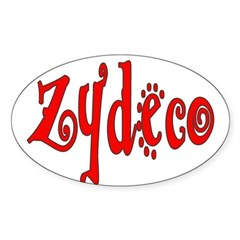Zydeco Oval Decal