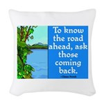 THE ROAD AHEAD Woven Throw Pillow