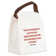 BRUCE LEE QUOTE Canvas Lunch Bag