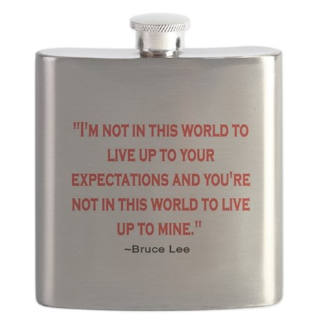 BRUCE LEE QUOTE Flask