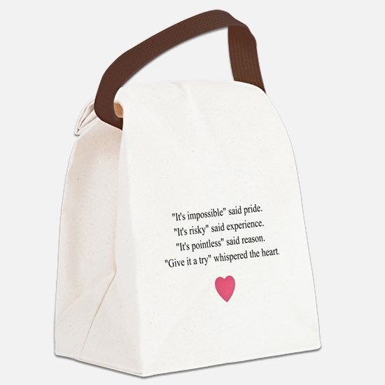 GIVE IT A TRY... Canvas Lunch Bag