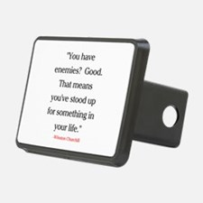 CHURCHILL QUOTE - ENEMIES Hitch Cover