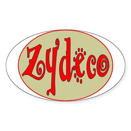 Zydeco Oval Oval Sticker