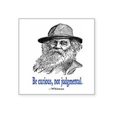 "WHITMAN QUOTE Square Sticker 3"" x 3"""
