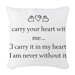 THE PUREST LOVE Woven Throw Pillow