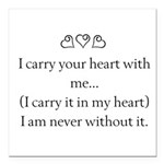 THE PUREST LOVE Square Car Magnet 3