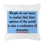 EMERSON - CHARACTOR QUOTE Woven Throw Pillow
