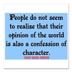 EMERSON - CHARACTOR QUOTE Square Car Magnet 3