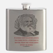 LONGFELLOW QUOTE Flask