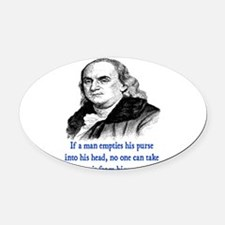 FRANKLIN QUOTE Oval Car Magnet