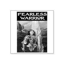 "FEARLESS WARRIOR Square Sticker 3"" x 3"""