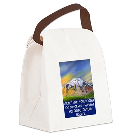 WHAT CAN YOU DO FOR YOUR TEACHER? Canvas Lunch Bag