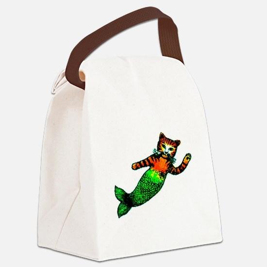 MERMAID KITTY Canvas Lunch Bag