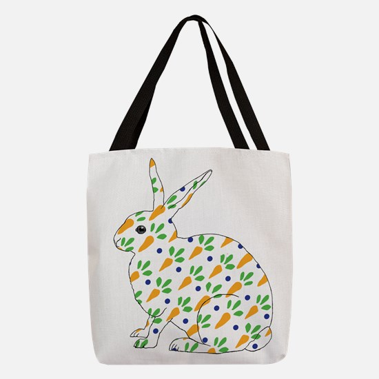 Carrot Calico Rabbit Polyester Tote Bag