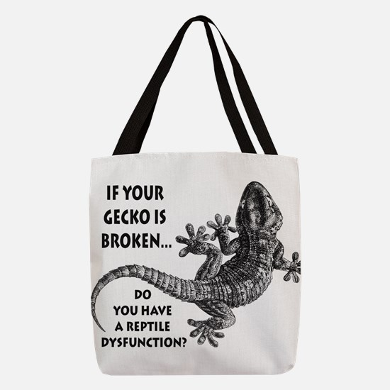 Reptile Dysfunction Polyester Tote Bag