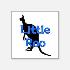 "LITTLE ROO (BLUE) Square Sticker 3"" x 3"""