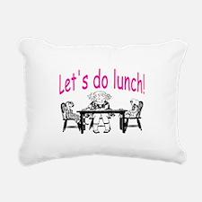 LET'S DO LUNCH Rectangular Canvas Pillow