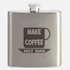 MAKE COFFEE - NOT WAR Flask