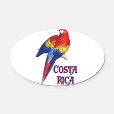 COSTA RICA II Oval Car Magnet