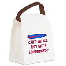 GET A LONG BOARD Canvas Lunch Bag