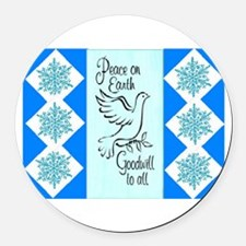 GOODWILL TO ALL... Round Car Magnet