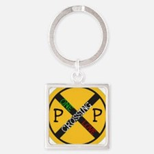 One Love Crossing Keychains