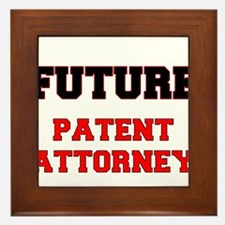 Future Patent Attorney Framed Tile