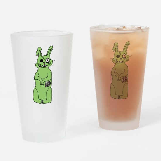 Zombie Bunni Drinking Glass
