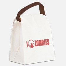 I Love Zombies Canvas Lunch Bag