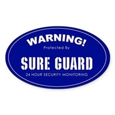 Home Security Oval Decal