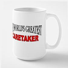"""""""The World's Greatest Caretaker"""" Large Mug"""
