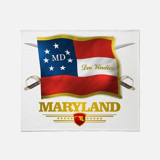 Maryland -Deo Vindice Throw Blanket