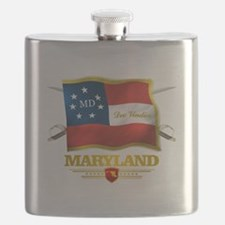 Maryland -Deo Vindice Flask