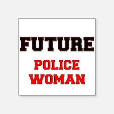 Future Police Woman Sticker