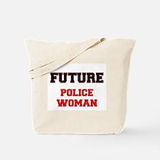 Future Police Woman Tote Bag