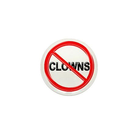 NO CLOWNS Mini Button (10 pack)