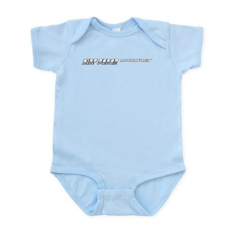 Dirt Force text logo Infant Bodysuit