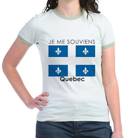 Je Me Souviens Quebec Jr. Ringer T-Shirt