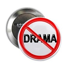 "NO DRAMA 2.25"" Button (10 pack)"