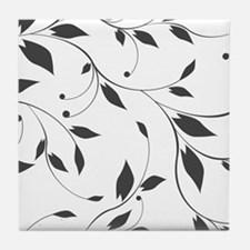 Elegant Leaves Tile Coaster