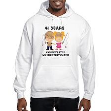 41st Anniversary Mens Fishing Hoodie