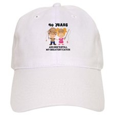 40th Anniversary Mens Fishing Baseball Cap